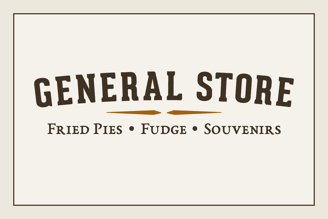 General Store Fried Pies Fudge Souvenirs